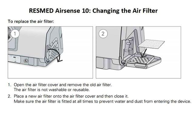 RESMED_AIRSENSE_10 filter cleaning instructions