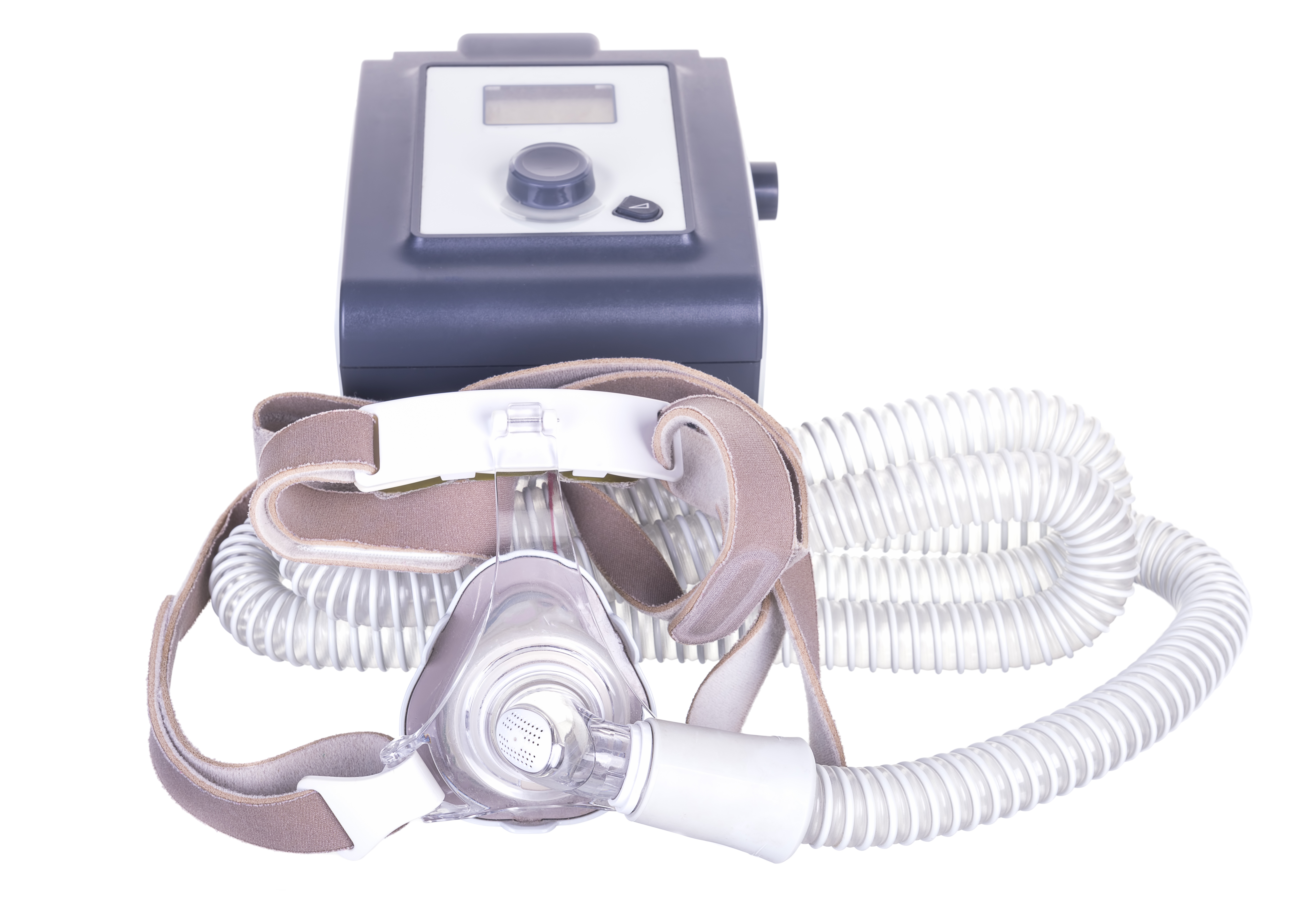 A CPAP machine is a delivery system for sleep apnea treatment using pressurized air to keep the upper airway open