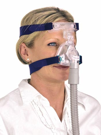 resmed ultra mirage 2 nasal cpap mask on woman